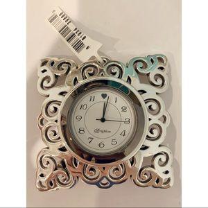NEW Brighton Silver Geneva Clock